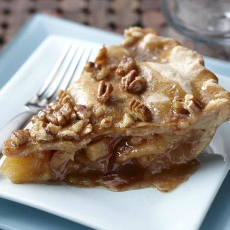 Caramel Glazed Apple Pie
